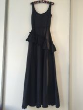 BNWT GALLIANO SPECIAL MAXI DARK BLUE DRESS IT 44/ UK 12