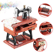 Vintage Mini Sewing Machine Style Music Box Mechanical Table Decor For Gift Best