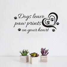 Dogs Leave Paw Printed Saying Vinyl Decal Wall Sticker Decor Quote Home Decals .