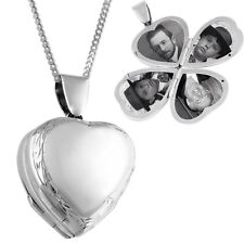 LOCKET HEART SHAPE VICTORIAN FOUR PART ON CHAIN 925 SILVER FROM ARI D NORMAN