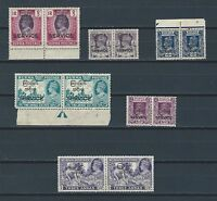British Commonwealth Burma nice selection of mnh opt stamps in pairs