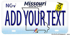 Missouri Show Me State Add Your Text Aluminum License plate
