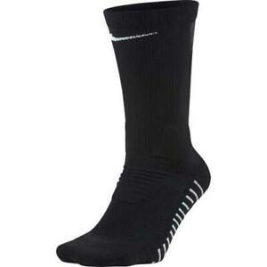 2pr Nike Performance Boys 3Y-5Y Cush Crew Football Socks Black SX4563 FAST! B74