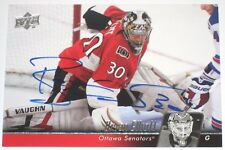 BRIAN ELLIOTT SIGNED 10-11 UPPER DECK OTTAWA SENATORS CARD AUTOGRAPH AUTO!!