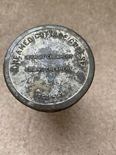Vintage Creamed Cottage Cheese Glass Tin Lid Detroit Creamery Ebling Creamery