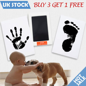 Handprint Footprint Ink Pad for Baby Kids Pets Paw Print Kit Non-Toxic Safe Gift