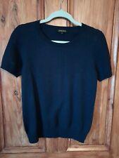 Jaeger Wool & Cashmere Short Sleeve Jumper Size M