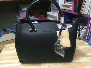 Details about  /David Jones 2019 Black Satchel Women Tote Handbag