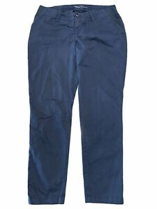 NWT GAP Maternity Best Girlfriend Pants Sz 4 Blue Stretch #179353