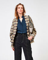ISABEL MARANT Iliana Wool Blend Tweed Jacket Size 36 Orig. $1100 NWT