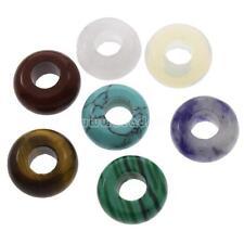 5PCs Rondelle Large Hole European Gemstone Beads DIY Jewelry 10x5mm
