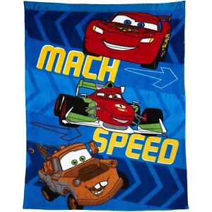 """Disney Cars 40""""x50 Plush Ultra Soft Toddler Blanket This Will Keep Them in Bed!"""