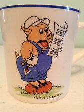 Vintage Walt Disney Enterprises Mug Three Little Pigs Reading Sheet Music 1930's