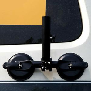 SUV ATV Off-Road Flagpole Bracket Heavy-Duty Adjustable Suction Cup Holder US