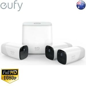 eufy Wire-Free HD Security Cam with Home Base Kit (3 cameras) 365 DAYS T8804CD2