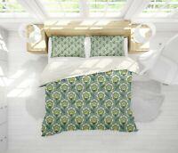 3D Floral Green Leaves Plant Quilt Cover Sets Pillowcases Duvet Comforter Cover
