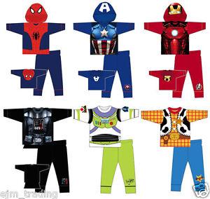 Kids Marvel Character Novelty Pyjama Set Pyjamas Nightwear Costume Boys avengers