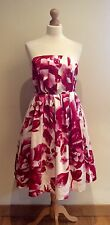 ATMOSPHERE DRESS SIZE 14 WHITE RED PINK FLORAL COTTON