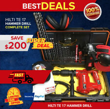 Hilti Te 17 Hammer Drill Great Condition Free Grinder Bits Extras Fast Ship