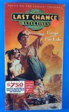 Last Chance Detectives Escape from Fire Lake VHS Focus on Family Christian NEW