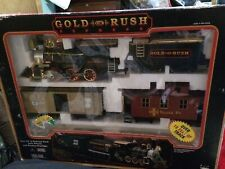 GOLD RUSH EXPRESS Train Set #186 (1996) Used & Missing Some Track - Battery Run