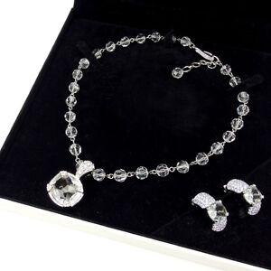 SWAROVSKI Necklace Pendant Silver Woman Authentic Used Y1517