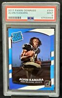 2017 Donruss Rated Rookie Saints ALVIN KAMARA Rookie Card PSA 9 MINT Low Pop !