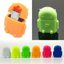 Robot Micro USB Host OTG Adapter Cable for Samsung Galaxy S3 S4 Note2 Android SP
