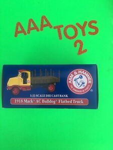 Die Cast Arm & Hammer 1918 Mack AC Bulldog Flatbed Truck 1/33 Scale Excellent