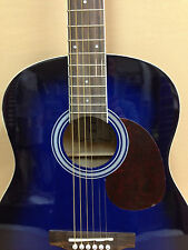 VGS D-Baby 3/4 Size OM Acoustic Guitar – Translucent BLUE +Free Gig Bag+Strings