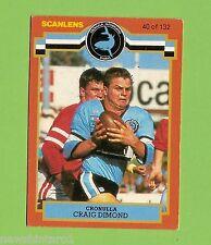 1986 Cronulla Sharks Rugby League Card #40 Craig Dimond