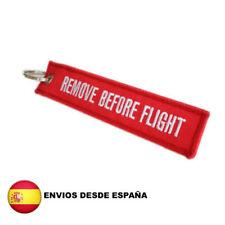 """LLAVERO """"QUITAR ANTES DE VOLAR - REMOVE BEFORE FLIGHT """" PARA EQUIPAJE MALETAS"""