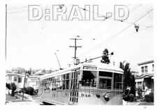 9A307 NEG/RP 1948 KEY SYSTEM RAILWAY CAR #946 AT ARBOR & FAIRVIEW LAST WEEK