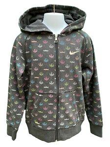 New NIKE LEBRON Unisex Hoodie Jacket Charcoal Grey 140-152 cm Age 10-12 Years