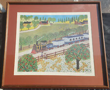 "Mike Falco - ""HOWDY"" Vintage Collectible Print Signed-Numbered-Framed"