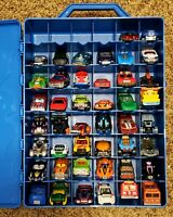 2001 Hot Wheels 48 Car Carry Case  FILLED with 44 Hot Wheels Cars