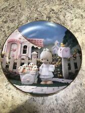 "Precious Moments Plate ""God Loveth A Cheerful Giver"" Puppies Sam Butcher"