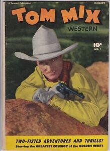 TOM MIX WESTERN # 1 (1948) FAWCETT PUBLICATIONS