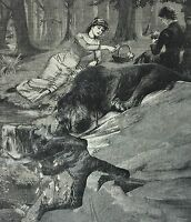 Original antique signed surrealist collage   vintage Victorian art anthropologie