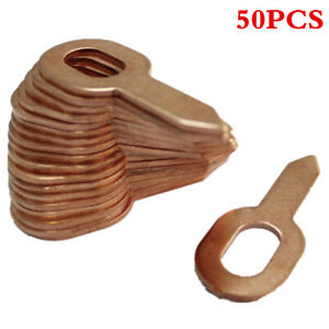 50Pcs Spot Welding Washer Car Body Panel Dent Puller Rings Tools Copper Plated