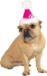Pink Santa Hat Pet Costume Accessory ( Medium/Large Dogs)