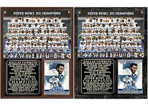 Dallas Cowboys Super Bowl XII Champions Photo Card Plaque