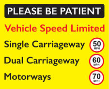 Speed Limited Commercial Vehicle Sticker 50 Mph 60 Mph 70 Mph Van Truck Lorry