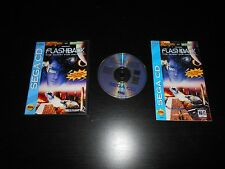 Flashback The Quest for Identity Sega CD Game Disc & Manual Good