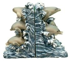 Dolphin Book Ends Waves Water Heavy