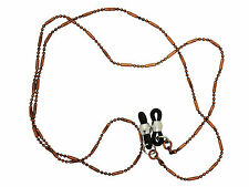 Antique Style Brown Copper Link Spectacle Chain / Cord With Traditional Fasten