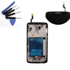 Nero LCD Display +Front Touch schermo Screen+ Frame For LG Optimus G2 D802 D802T