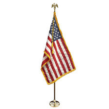 New! 3x5 U.S. American Indoor Flag Pole Parade Set/Kit
