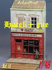 KIT FACADE HOTEL + RUE  DIORAMA 1/48  1/43 EXCLUSIVITE !!!