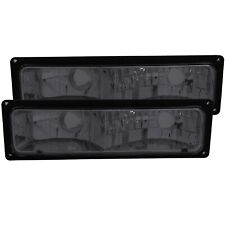 ANZO EURO PARKING/SIGNAL LIGHTS SMOKE LENS BLACK FRAME FOR 88-98 CHEVY #511034